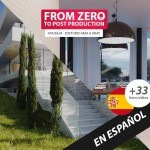 From Zero to post production, House.M 3D studio Max and Vray Course 3D in Spanish language. Capa do Curso 3D do zero à pós produção em Língua espanhola